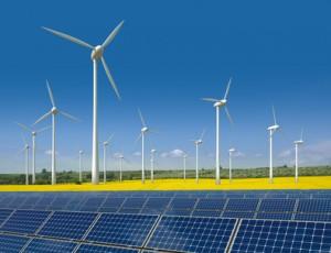 Windräder und Solarmodule