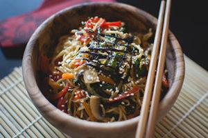 Chinesisches Nudelgericht.